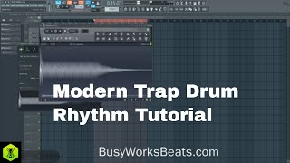 How to Make Modern Trap Drum Rhythms TRAP Series Pt.2