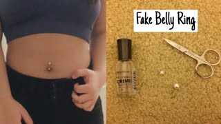 How to make a fake belly ring