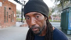 Homeless Man Looking for Work Cannot Find Employment