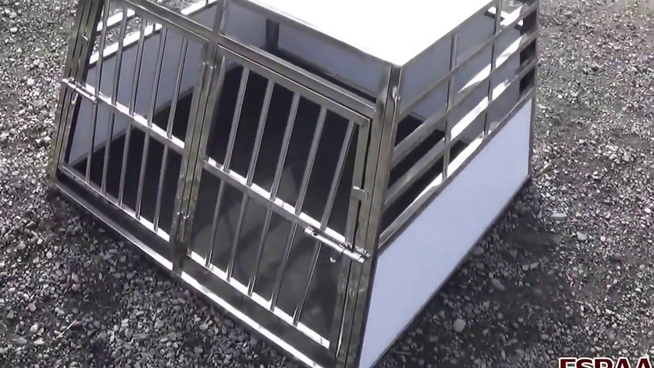 cage caisse transport chien youtube. Black Bedroom Furniture Sets. Home Design Ideas