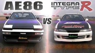 [ENG CC] Fast Beat Integra Type R vs. Tsuchiya's AE86 in Tsukuba 1000 AEHV07 thumbnail