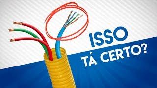 🔴 Cabo de Rede JUNTO com a Rede Elétrica... Veja O QUE ACONTECE
