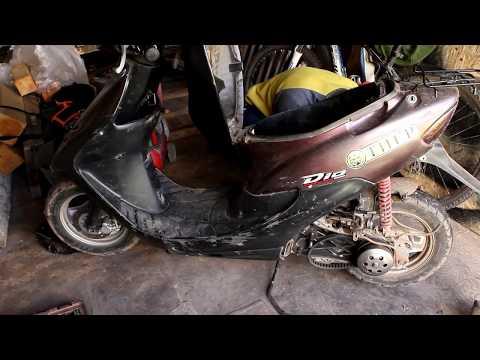 Ремонт двигателя Honda Dio 34. Часть 1.