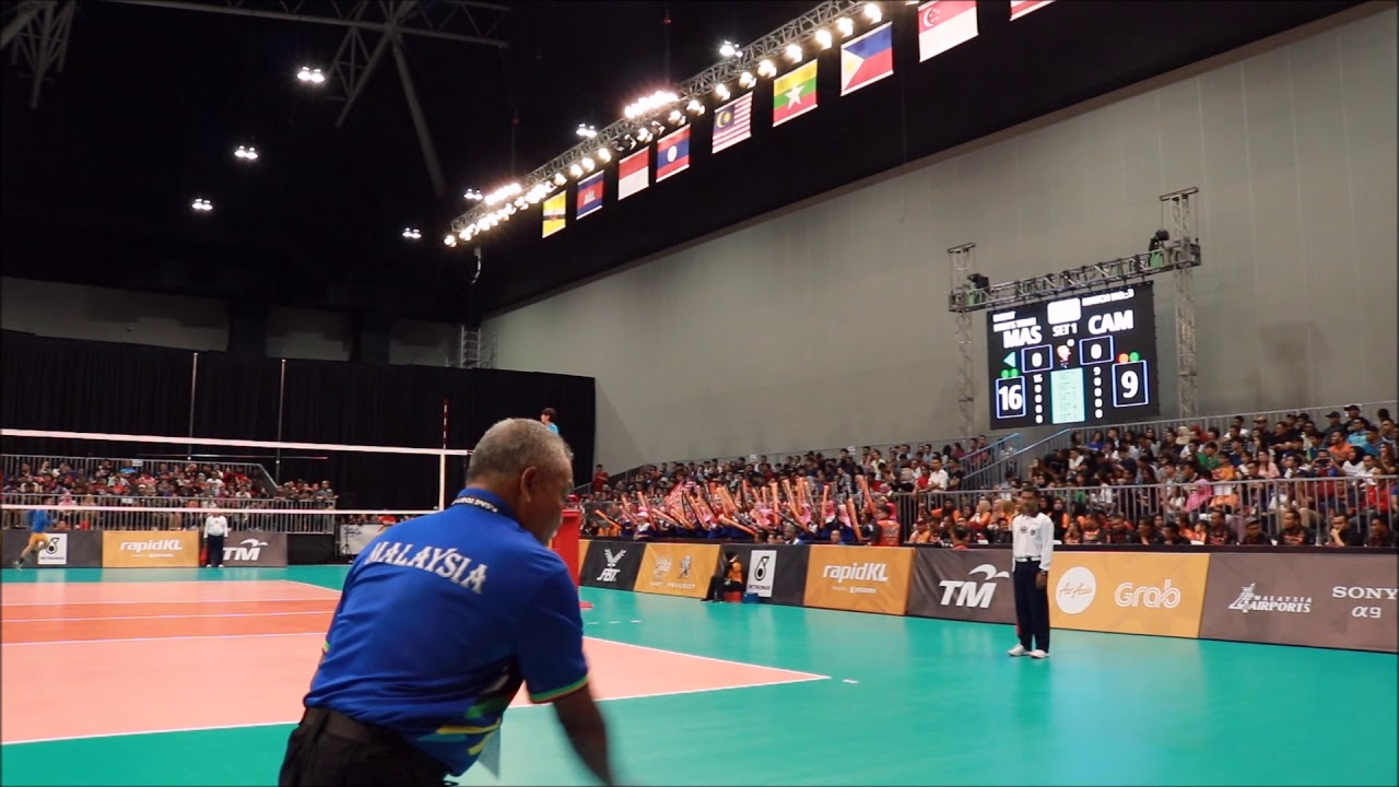 29th SEA Games Volleyball Men: Malaysia vs Cambodia - YouTube