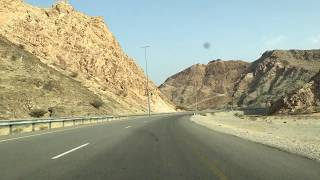 Travelling to the desert from Muscat, Oman