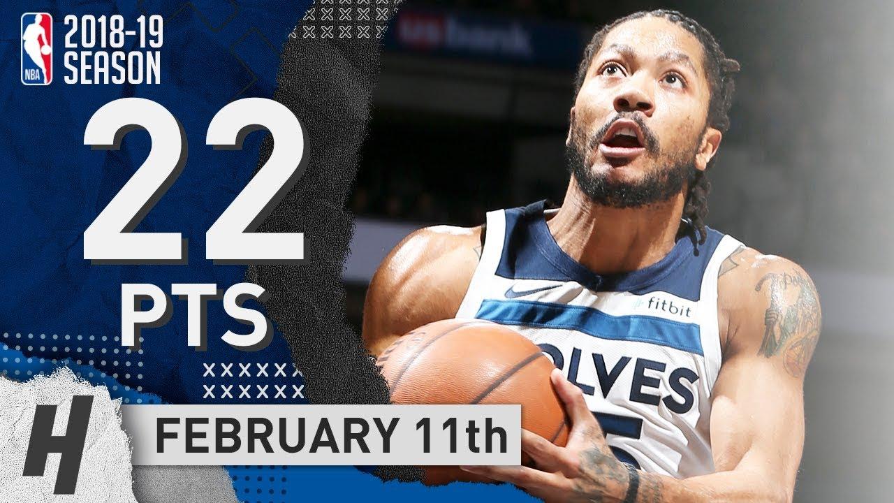f8e8aca9954a Derrick Rose SICK Full Highlights Wolves vs Clippers 2019.02.11 - 22 ...