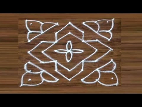 Simple Rangoli / kolam design For Navratri / dassehra - 14 by meartist.in
