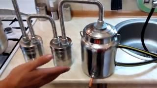 домашний самогонный аппарат своими руками из скороварки с двойной очисткой и термометром
