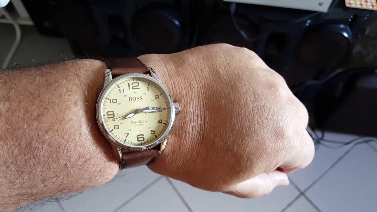 1dad23d14 Relógio Hugo Boss Pilot - YouTube