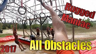 Rugged Maniac 2017  - All Obstacles - Wilmot Chicago Milwaukee