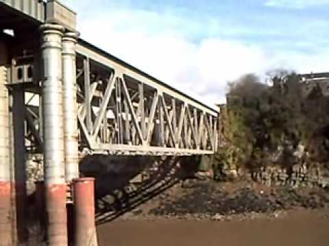 River Wye below Chepstow railway bridge