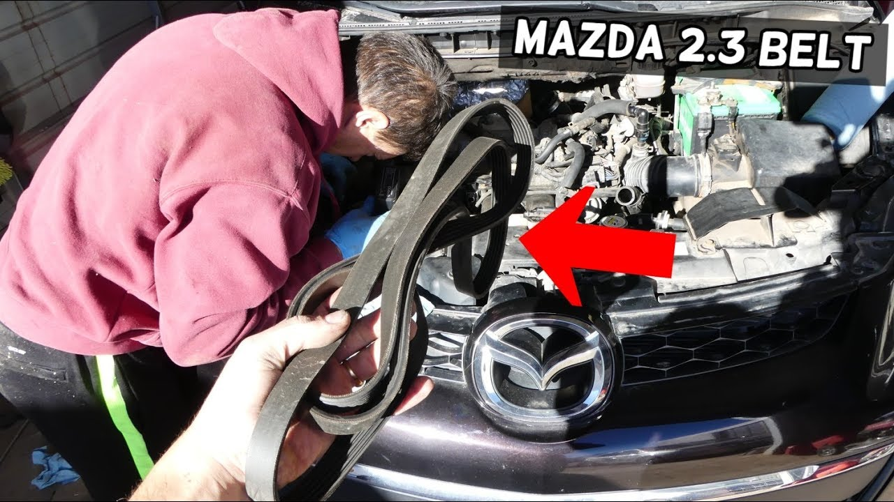 medium resolution of mazda cx 7 speed 3 speed 6 2 3 serpentine belt replacement removal 2008 mazda cx7 belt diagram