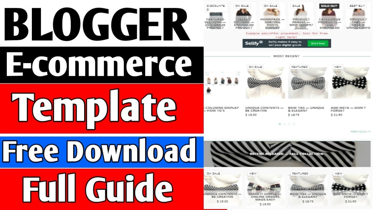How To Download Ecommerce Blogger Template In Hindi 2018 Youtube