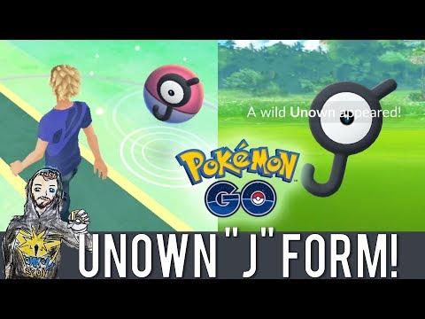 "A WILD UNOWN HAS APPEARED! Pokemon GO Unown ""J"" Form in San Leandro, CA! Unown J Pokemon GO"