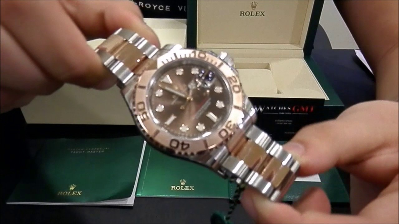 rolex yacht master 116621 steel amp rose gold brown dial new