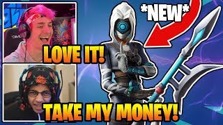 Streamers *REACT* To *NEW* FOCUS Skin & FIXATION Pickaxe In Fortnite (RARE)