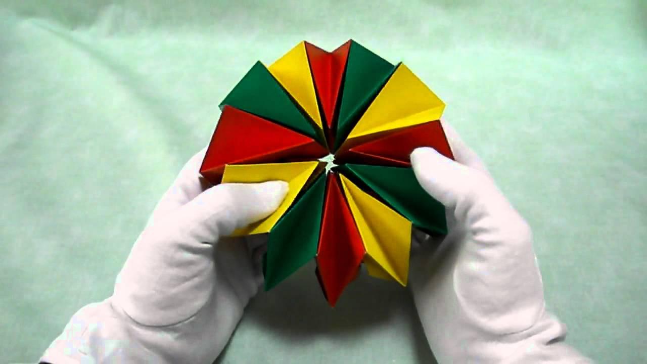 すべての折り紙 折り紙 ユニット : 動く折り紙万華鏡 Fireworks ...