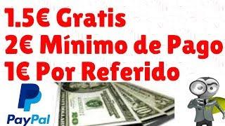 Llévate 1.50€ Solo Por REGISTRARTE + 2€ Mínimo de Pago| MEJOR PAGINA PARA GANAR DINERO POR INTERNET
