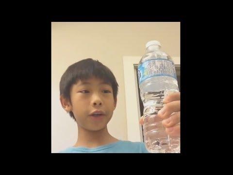 ich trinke diese wasserflasche in 1 sekunde..