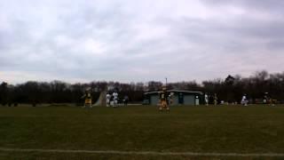 Quinn Gidzinski #34 Seneca HS stick checking on defense