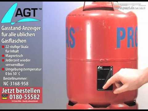 Gasstand-Anzeiger Gasstandanzeiger Gas Füllstand für alle üblichen Gasflaschen