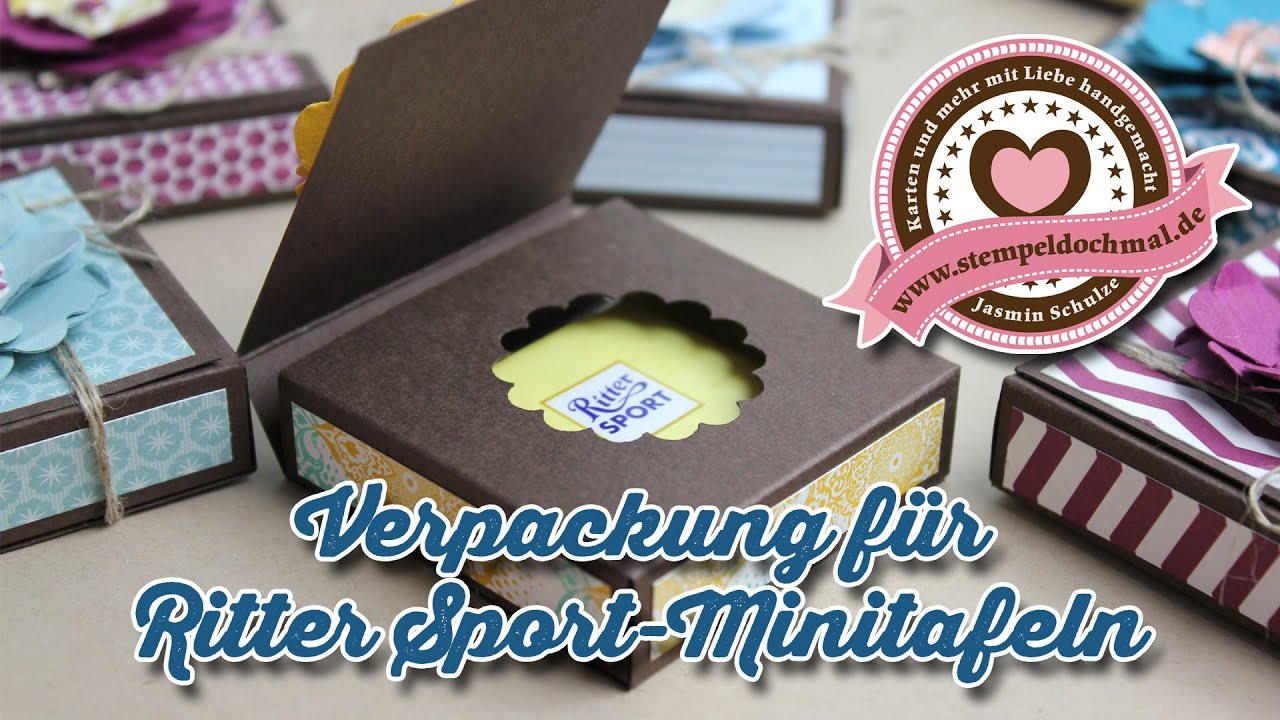tutorial verpackung f r ritter sport mini mit stampin 39 up produkten youtube