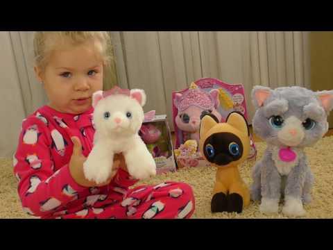 КОТЯТА ДИАНЫ Подарки на Новый Год 2017, Котик Принцессы Авроры Видео для Детей Малышей Игры и Фокусы