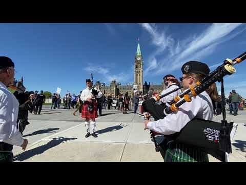 RAW: Gun Owners, Firearm Activists March At Parliament Hill