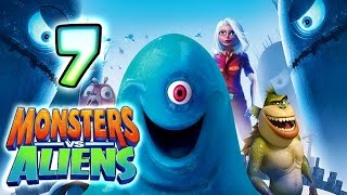 Monsters VS Aliens Walkthrough Part 7 (PS3, X360, Wii, PS2) ~ Ginormica Level 7