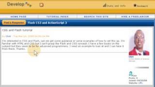 CSS styling a Flash dynamic website -  Actionscript 3.0 html Text tutorial CS3 + CS4