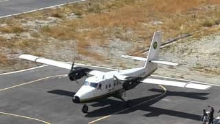 Tara air takeoff from runway 09 from Bajura kolti.