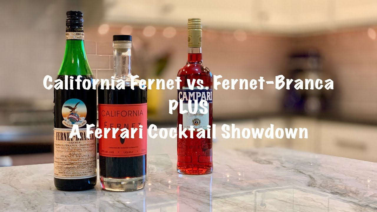 California Fernet Vs Fernet Branca Plus A Ferrari Cocktail Showdown Youtube