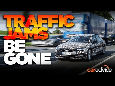No more traffic jams: Audi A8 traffic jam pilot level 3 autonomy test - Dauer: 6 Minuten, 6 Sekunden