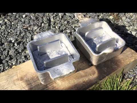 Casting Scuba Dive weights belt in 3D printed aluminum mould 4/4