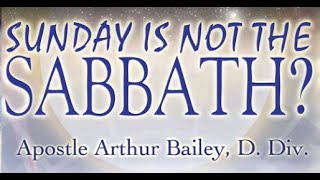 Sunday Is Not The Sabbath? The Search Begins