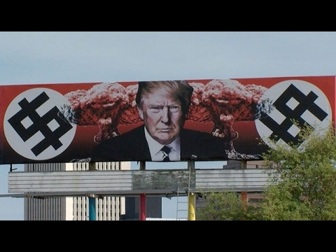 Anti-Trump billboard on display in Phoenix