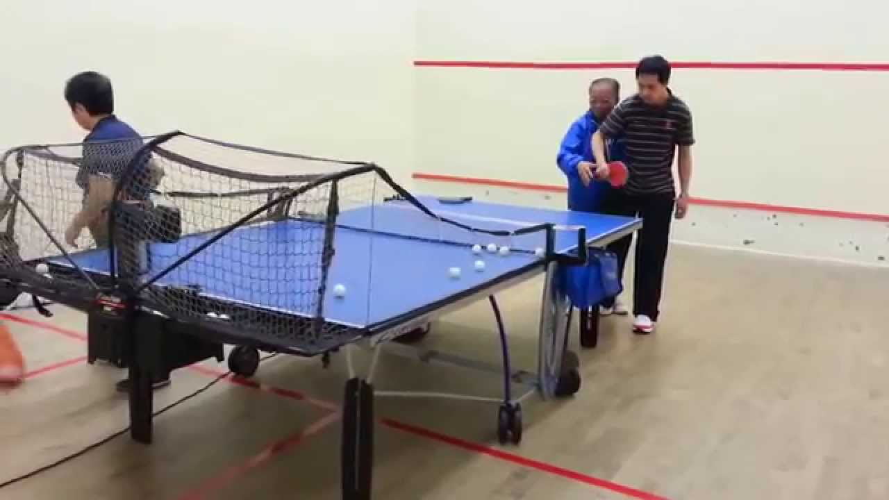 20140502 龍琛路體育館 乒乓球初學者練習 - YouTube