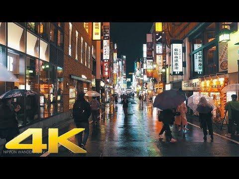 Walking around Shinjuku, Tokyo in the night of rain Part2 - Long Take【東京・新宿/雨夜】 4K