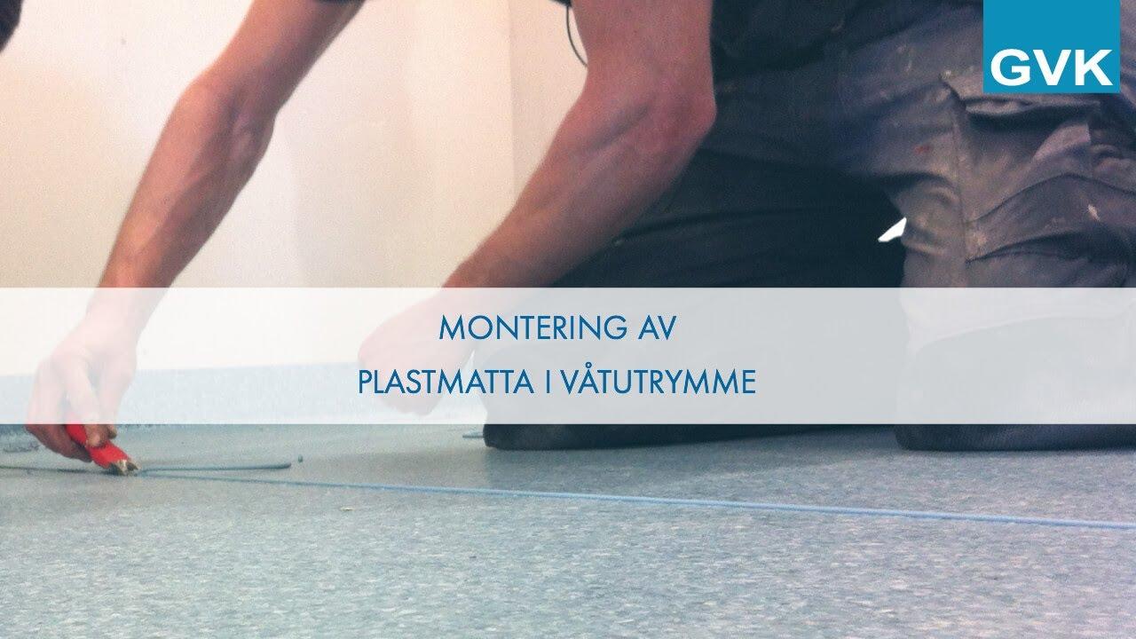 Montering av plastmatta i våtutrymme - Golv - YouTube