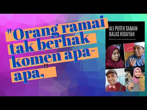 Sidang Media Tergempar Isu Saman Ali Puteh & Hidayah, Netizen Diminta Jangan Masuk Campur & Komen