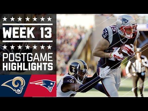 Rams vs. Patriots (Week 13) | Game Highlights | NFL