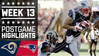 Rams vs. Patriots | NFL Week 13 Game Highlights