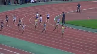 2014.6.13 第69回 東北高校陸上 女子4×100mR 準決勝3組 順位 レーン チーム...