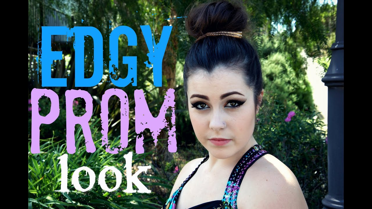 An Edgy Prom Look Hair Makeup And Dress Youtube