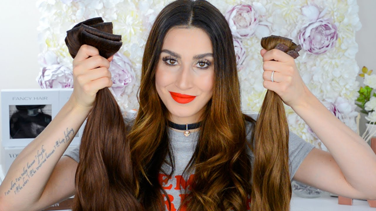 11 Genius Ways To Wear Clip In Hair Extensions Youtube