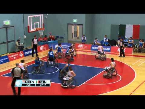 Netherlands vs Italy - Women - European Wheelchair Basketball Championship 2015