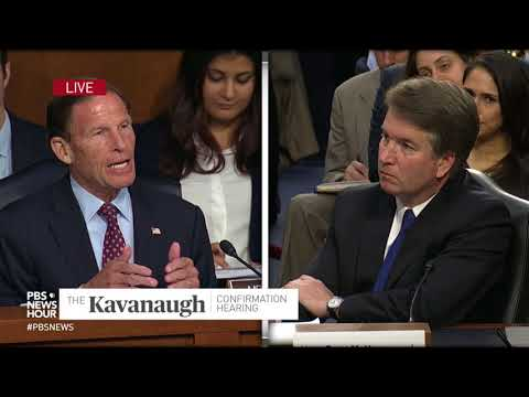 WATCH: Sen. Richard Blumenthal condemns attack on rule of law in Kavanaugh hearing
