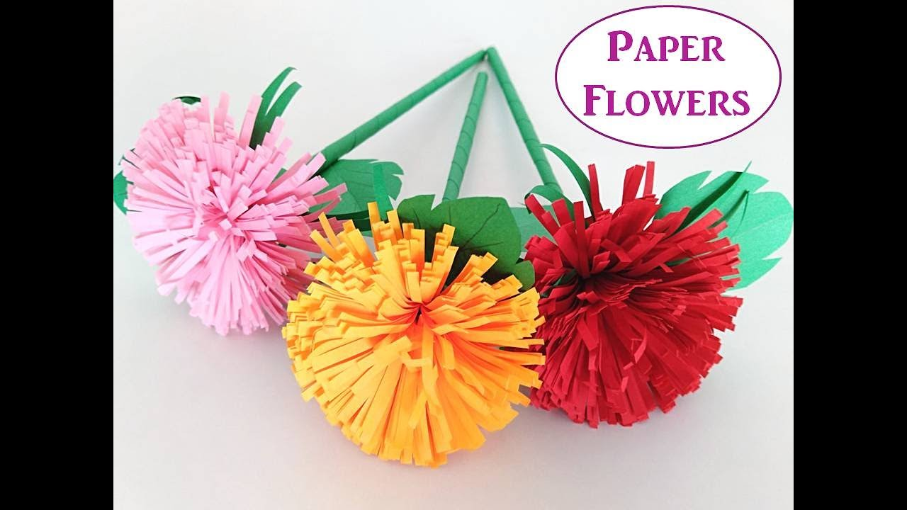 Beautiful Paper Flowers Diy Paper Craft Ideas Tanishqavideos