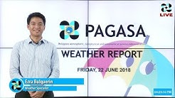 Public Weather Forecast Issued at 4:00 AM June 22, 2018