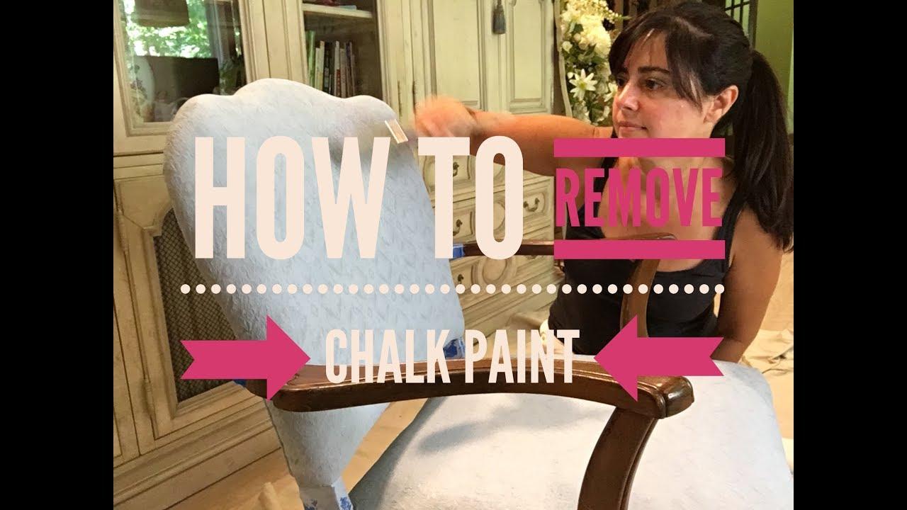 How To Remove Chalk Paint Ginaparis